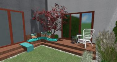 malá zahrada u řadového Praha, zahradní architekt praha, návrhy zahrad praha
