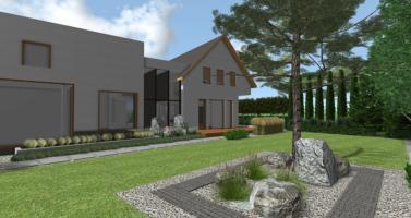 návrh moderní zahrady návrh, zahradní architekt praha