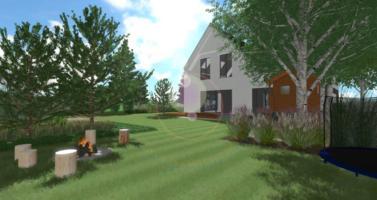 zahrada ve skandinávském stylu, moderní zahrada návrh, zahradní architekt praha, návrhy zahrad praha