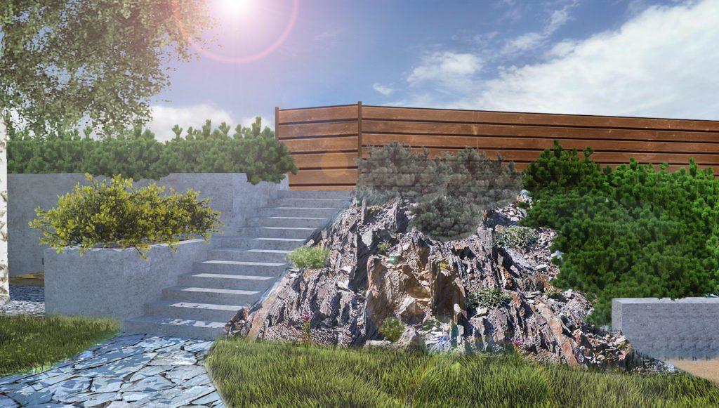 zahrada ve skandinávském stylu, zahradní architekt praha