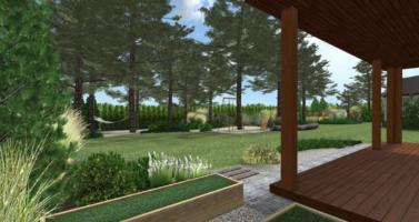 projekt leśnego ogrodu ogrod naturalistyczny ogrod lesny poznan rockandflower studio rfstudio