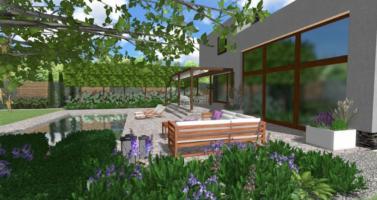 projektování zahrad praha, návrh zahrady praha, zahradní architekt praha, moderní zahrada praha, moderní zahrada s bazénem