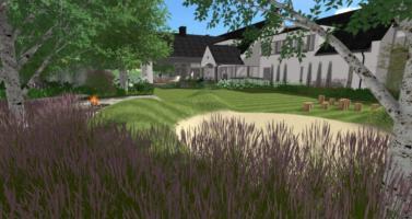 projektování zahrad praha, návrh zahrady praha, zahradní architekt praha, velká zahrada u jezera