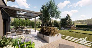 projekt zahrady Krupka, zahradni architekt Praha, projektovani zahrad v Praze