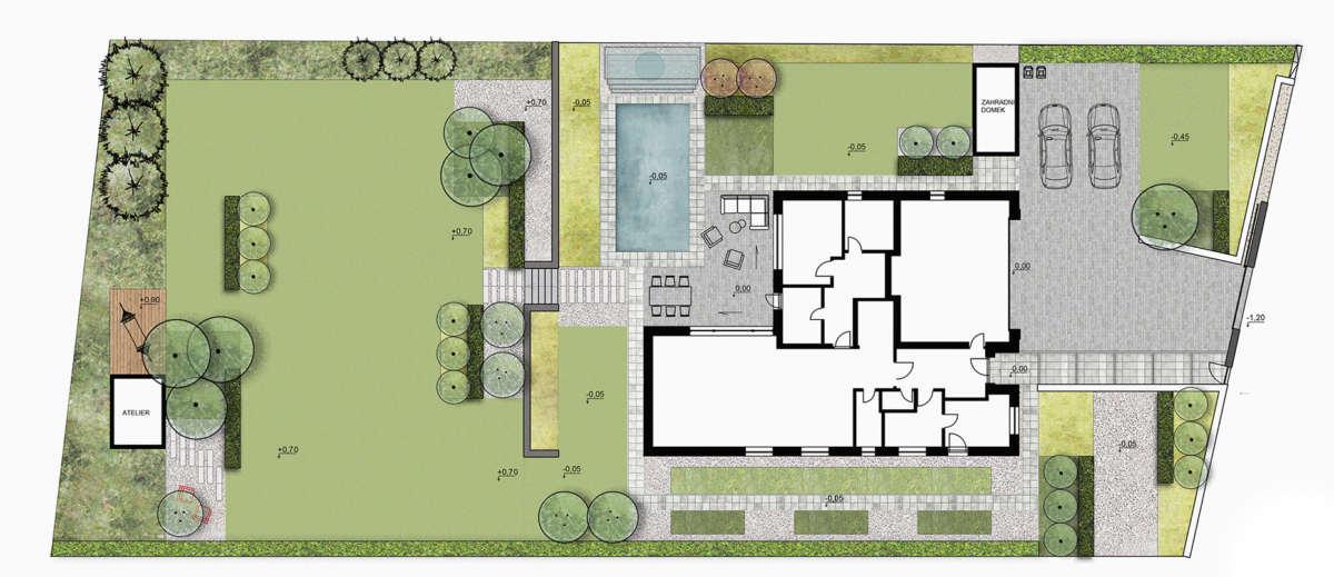 zahradni architekt v Praze, moderni zahrada projekt, navrh zahrady