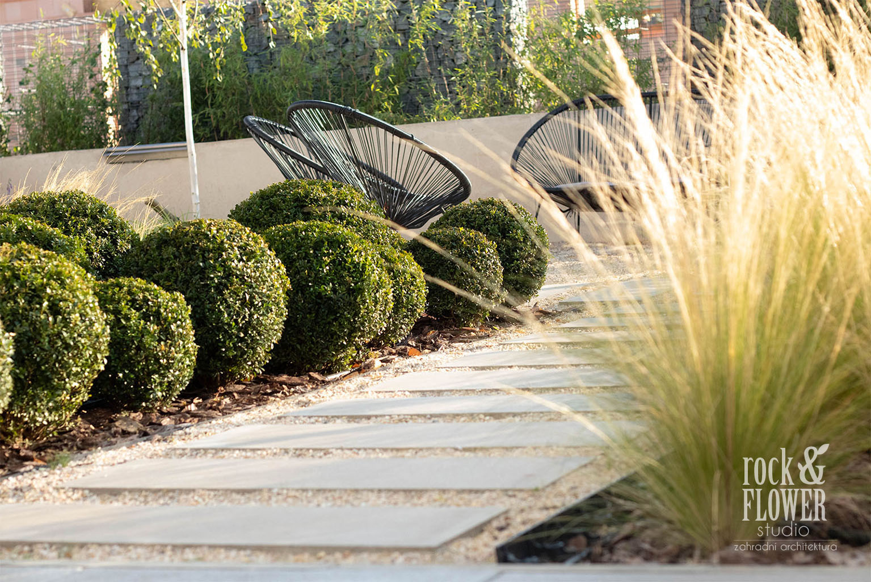 rock & flower studio praha, zahradni architektura, moderni zahradni architektura