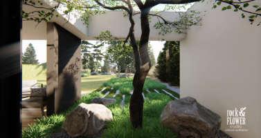moderni zahrada Cernosice, projekt moderni zahrady