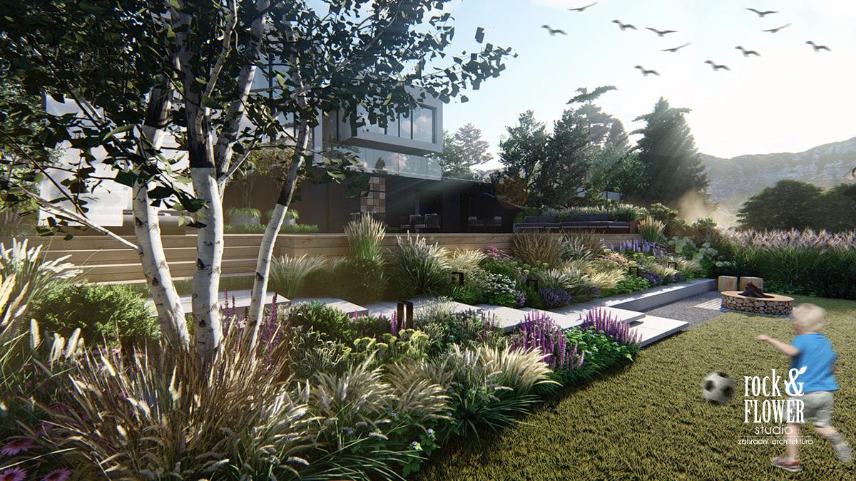 moderni zahrada Troja, zahradni architekt Praha