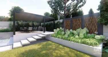 Moderni zahrada Velka Chuchle